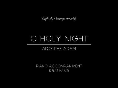 O holy night (cantique de noël) by adolphe adam - piano accompaniment in eb major mp3