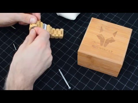 How to resize wooden watch band in 2 minutes. (DIY)