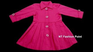 DIY Japanese / Chinese baby simple dress step by step full video | DIY long sleeve baby cloths