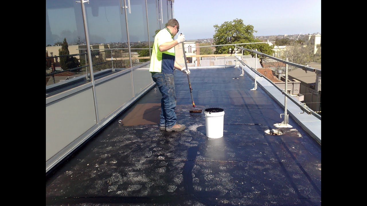 waterproofing flat concrete roof using liquid rubber youtube - Rubberised Roof Membrane
