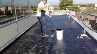 Waterproofing Flat Concrete Roof Using Liquid Rubber