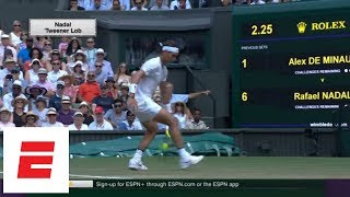 Rafael Nadal's tweener shot steals show at Wimbledon 2018 [Highlights, Interview, analysis] | ESPN