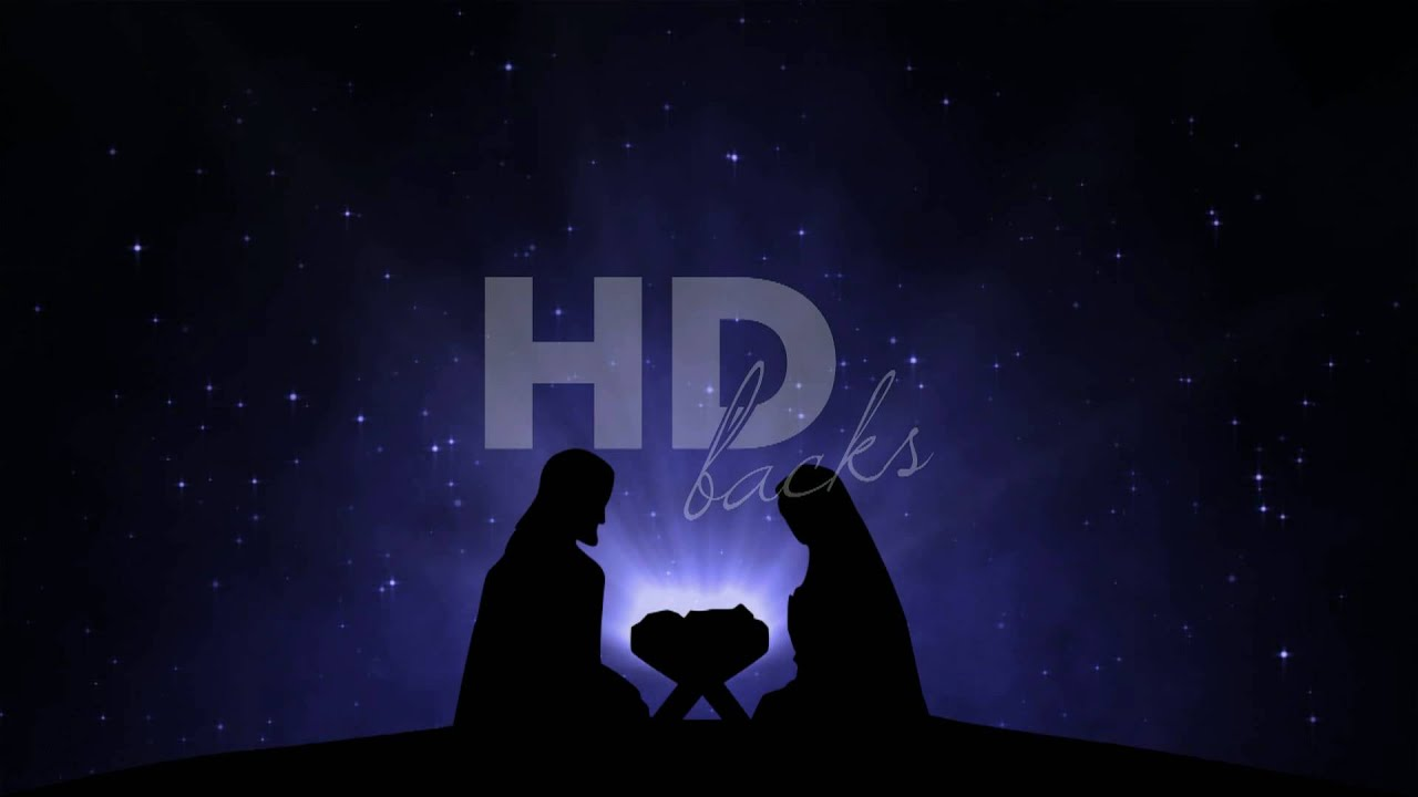 Nativity Silhouette Hd Background Loop Youtube