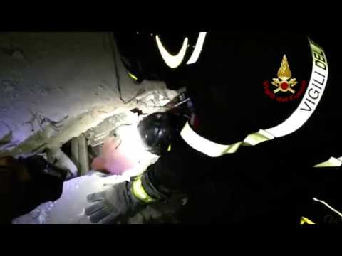 Italian Firefighters Work to Save Children Trapped Under Rubble After Ischia Earthquake