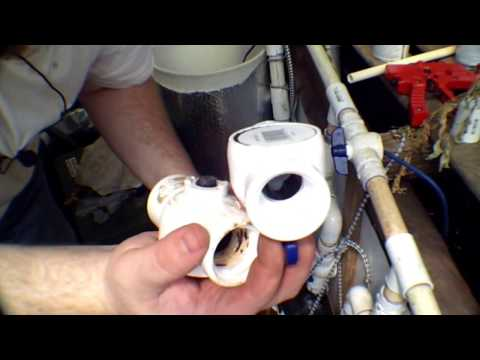 How to replace a PVC ball valve in a tight spot.