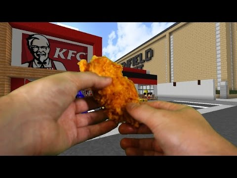Realistic Minecraft Visiting Kfc In Real Life Minecraft Youtube