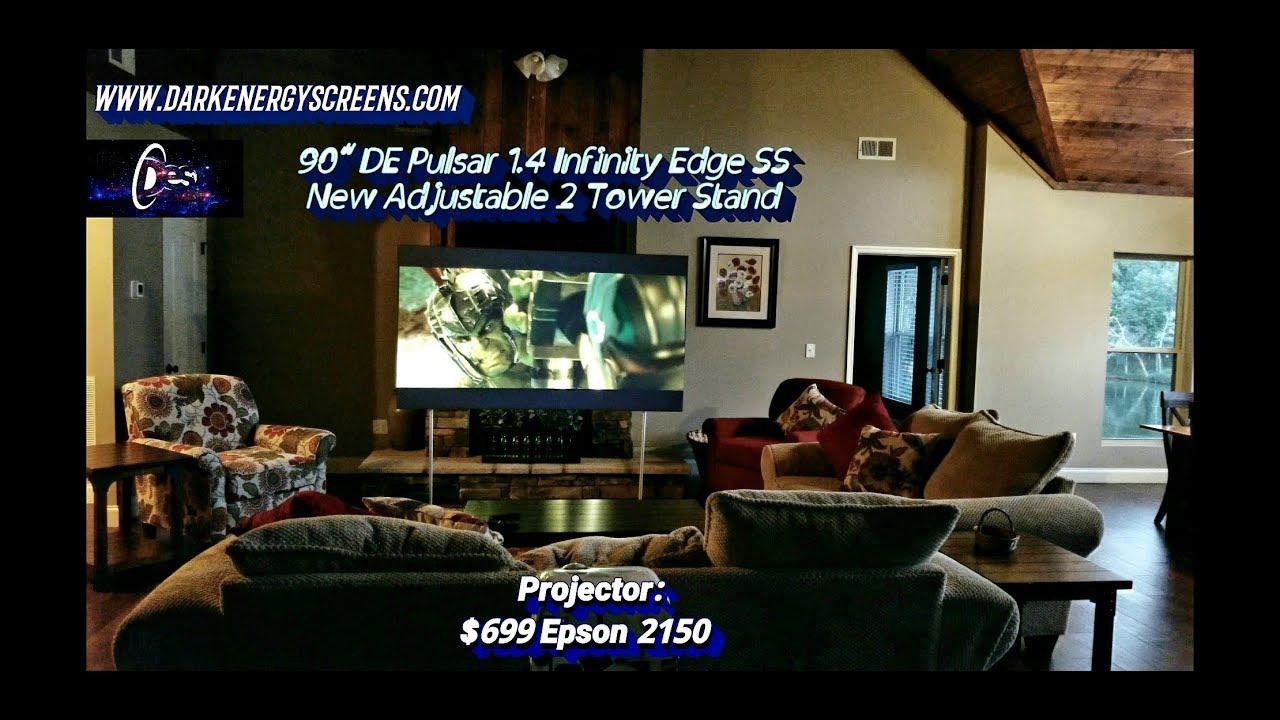 ALR Projector Screen- DE Pulsar 1 4 w/New 2 Tower Stand