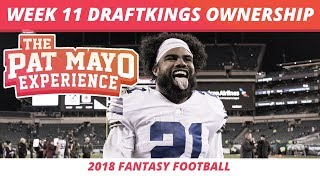 2018 Fantasy Football — Week 11 DraftKings Ownership Projections, GPP Pivots & Updated Spreads