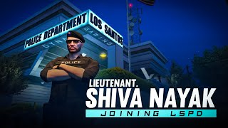 Lieutenant SHIVA NAYAK JOINING LSPD TODAY | GTA RP LIVE WITH DYNAMO GAMING