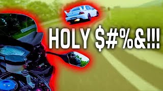 INSANE STREET RACING +800 HP EVO vs SUPERBIKE MAXWRIST CRASH 😱
