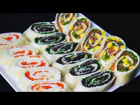3 Закуски из лаваша на праздничный стол | Всегда хорошо разнообразят, и готовятся легко!