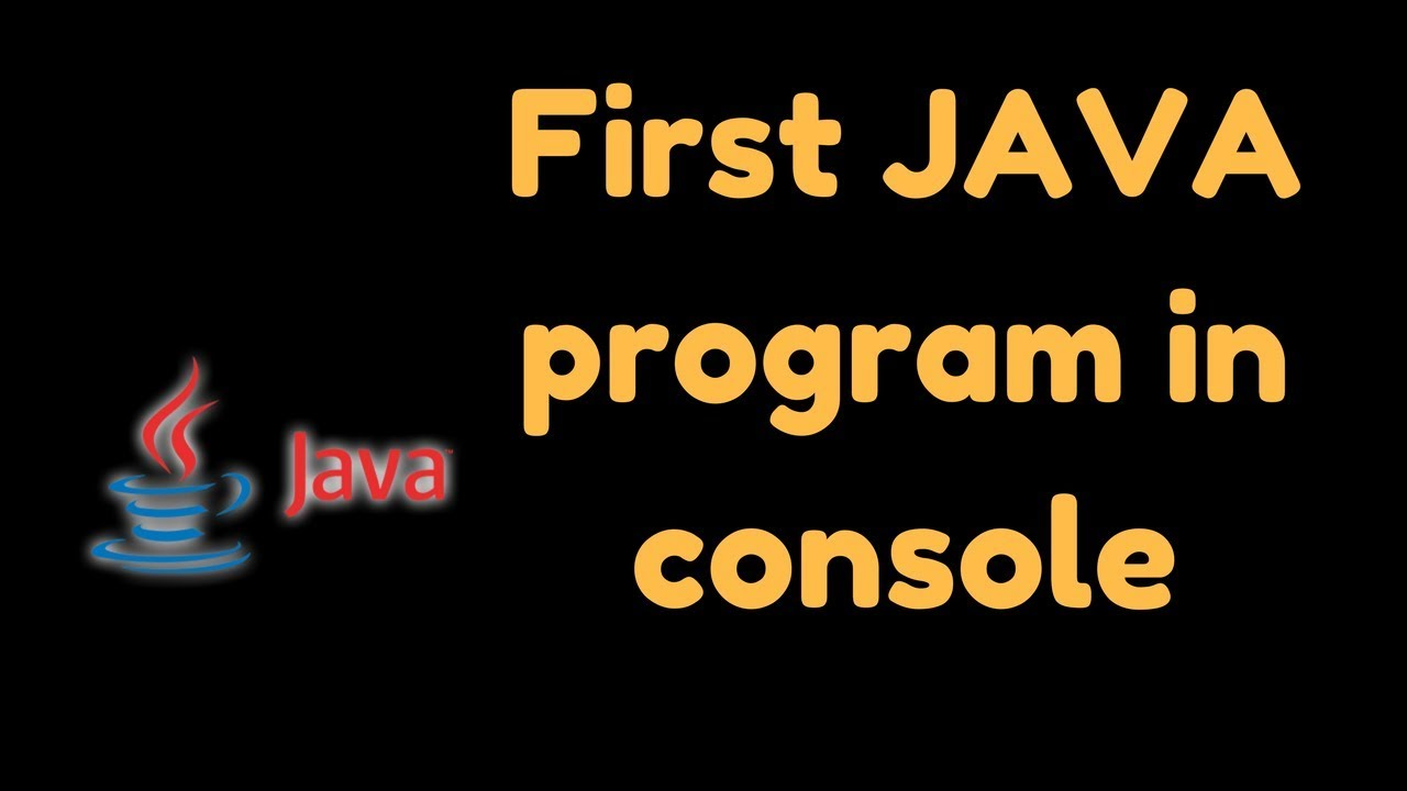 how to create a console program in java