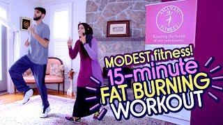 15-minute Ramadan Fat Burn Workout!   Modest Muslim Weight Loss Workout for Ramadan 2019