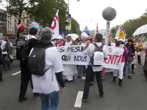 Action contre le TTPI   Bruxelles 17 octobre 2015.