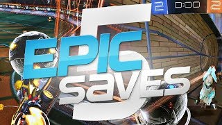 ROCKET LEAGUE EPIC SAVES 5 ! (BEST SAVES BY COMMUNITY & PROS)