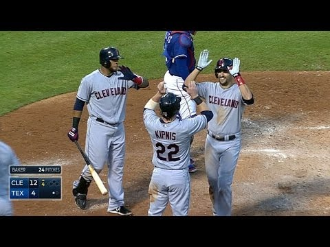 CLE@TEX: Chisenhall hits three homers, drives in nine