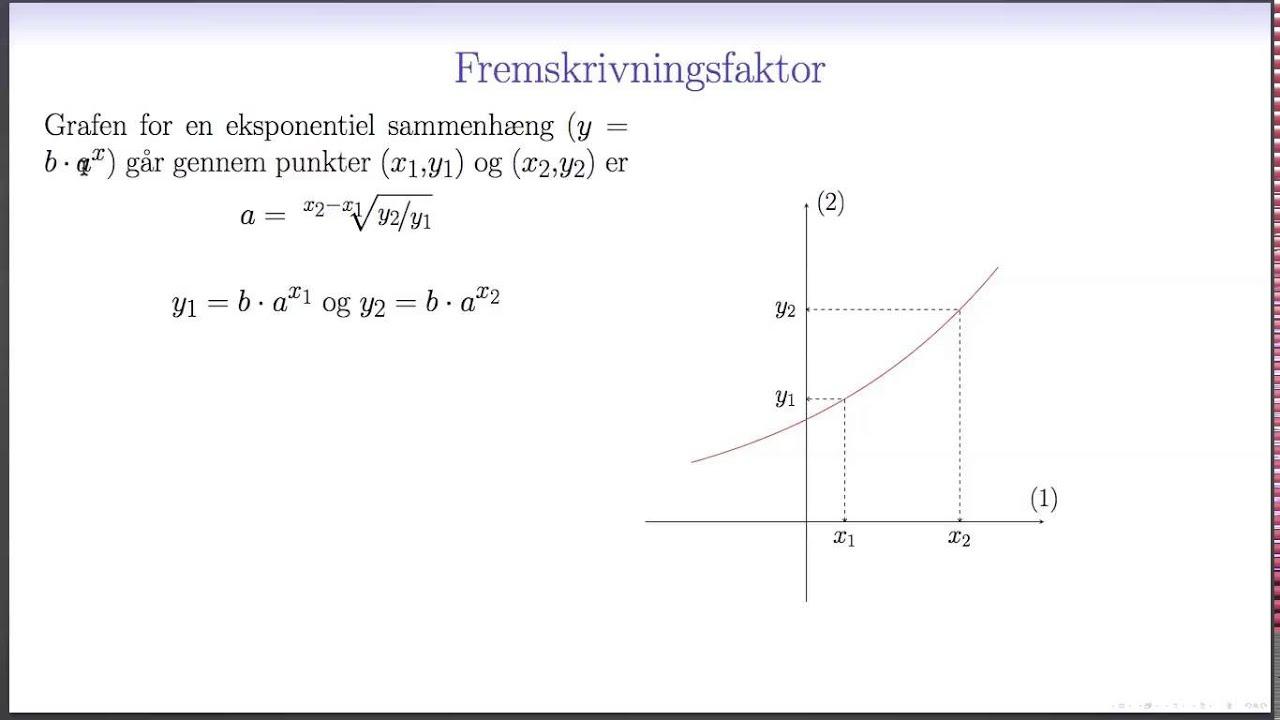 Eksponentialfunktion L2 - Bestemmelse af forskrift ud fra to punkter