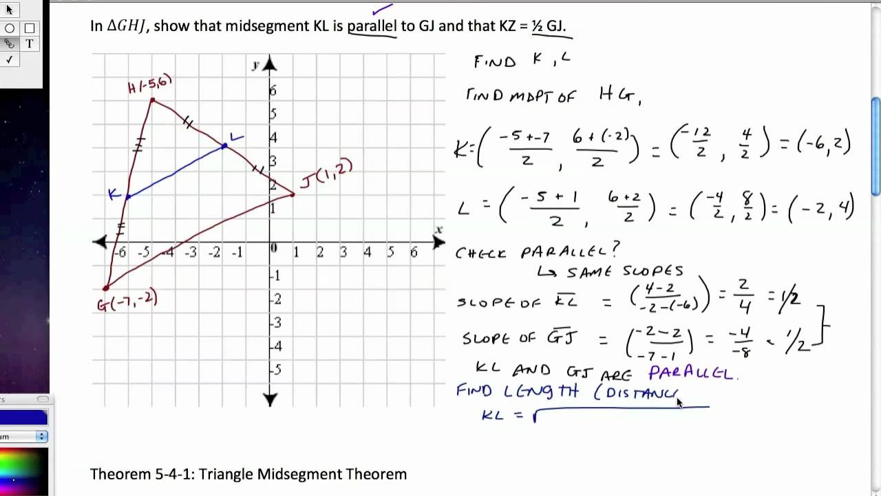 Triangle midsegment theorem.