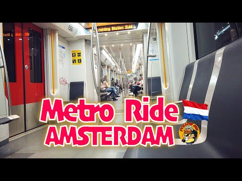 AMSTERDAM METRO RIDE (From Amsterdam Centraal to De Pijp)