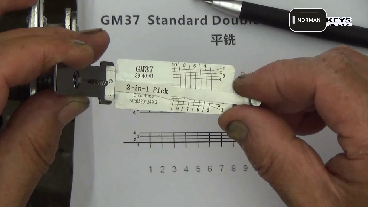 Demo operation video of Lishi tool GM37 (new) 2-in-1 Auto Pick and Decoder