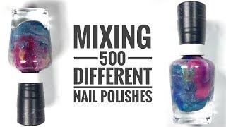 I Mixed 500 Nail Polish Together!