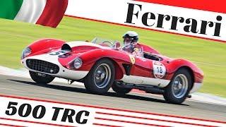 1957 Ferrari 500 TRC performing at Monza & Varano racetrack - Modena 100 Ore Classic 2018