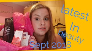 Latest in beauty Sept 2018 unboxing