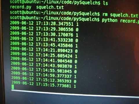 Python Powered Radio Frequency Activity Logger