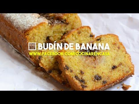 Receta de Budín de Banana y chocolate