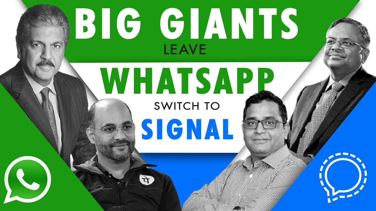Huge Shock to WhatsApp as Big Giants Switch to Signal - Know who they are! | Telegram|Mahindra|Paytm