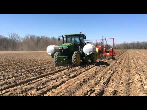 Potato Planting In Waterdown, Ontario with Brenn B Farms