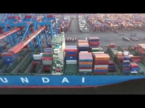 Containerterminal Altenwerder Rundflug mit Phantom 4