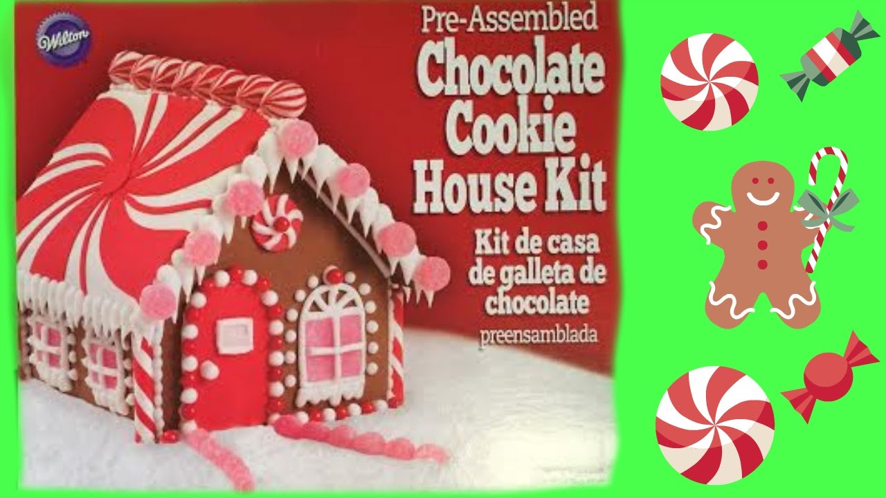 Attractive Gingerbread House Decorating! Chocolate Cookie House Kit From Wilton