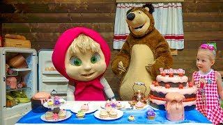 Маша и Медведь парк развлечений как мультик Masha and the Bear amusement theme park for children