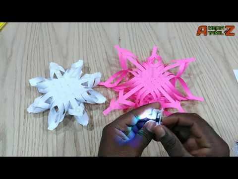 Modular 3D Origami Snowflake, Christmas DIY Paper Crafts Tutorials