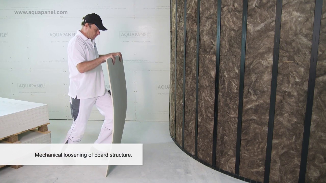 Curved constructions with knauf aquapanel cement board indoor
