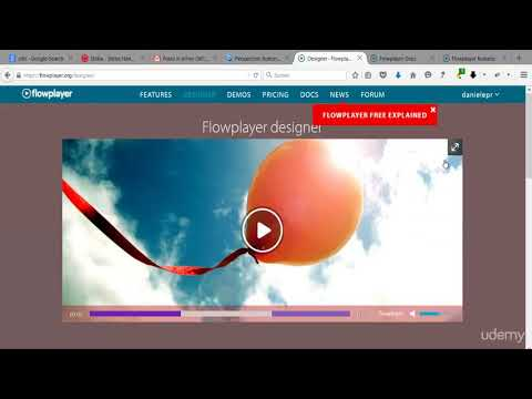 Web Video Editing and Production (Camtasia, PPT, Audacity) : Flowplayer - The Designer (I)