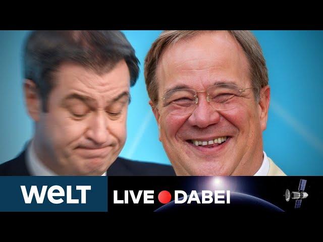 MACHTKAMPF verloren? Erklärung von CSU-Chef SÖDER zu CDU-Votum für LASCHET | WELT Live dabei