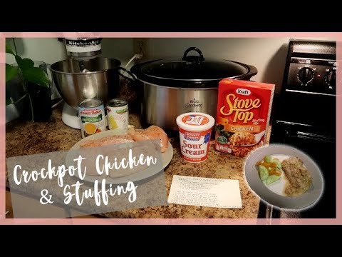 Crockpot Chicken With Stuffing | Easy Slow Cooker Dinner