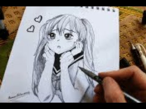 رسم انمي اشتاق اليك رسم انمي حزين Drawing Anime Youtube