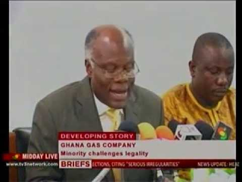 Midday Live Minority Challenge the Legality of the Ghana Gas Company  - 29/07/2013