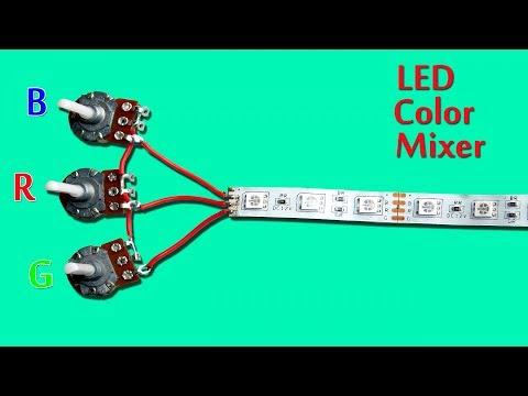 RGB LED Strip Color Mixer Circuit