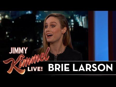 Brie Larson Surprises Jimmy Kimmel's Audience