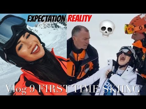 FIRST TIME SKIING GONE WRONG *SOME PARTS DISTURBING TO WATCH* IM INJURED AND MY ARM DOESN'T WORK