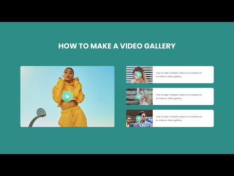 How To Make Video Gallery In HTML And CSS Website Step By Step Tutorial