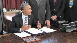 President Obama Signs Camp Lejeune Health Bill, EWG There to Celebrate Victory!
