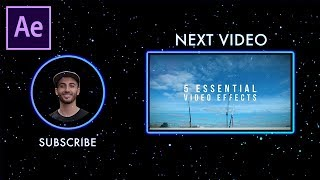 How to create a Stylish YouTube End Screen Template in Adobe After Effects CC (+FREE Project)