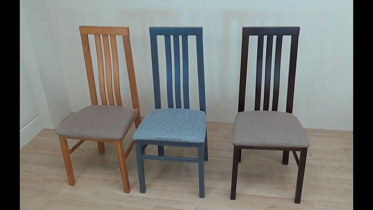 Descatalogado silla de madera y asiento tapizado cerezo wengue ceniza 22102 - Pintar sillas de madera ...