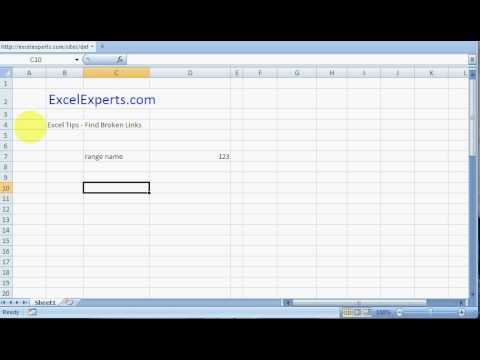 ExcelExperts com - Excel Tips - Find Broken Links
