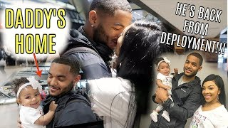VLOG #97 | HUSBAND BACK FROM DEPLOYMENT!! DADDY SEE HIS BABY FOR THE FIRST TIME IN MONTHS!!!